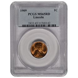 1909 Lincoln Cent Coin PCGS MS65RD