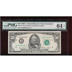 1969C $50 Cleveland Federal Reserve Note PMG 64EPQ