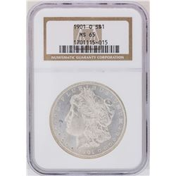 1901-O $1 Morgan Silver Dollar Coin NGC MS65