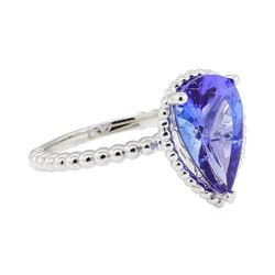 2.77 ctw Tanzanite Ring - 14KT White Gold