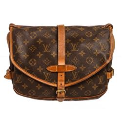 Louis Vuitton Monogram Canvas Leather Saumur 28 cm Messenger Bag
