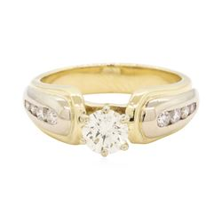 0.66 ctw Diamond Ring -1 4KT Yellow And White Gold