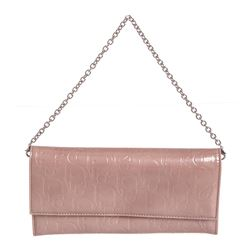 Christian Dior Pink Diorissimo Patent Leather Chain Wallet