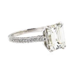 4.04 ctw Center Diamond Ring - Platinum