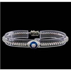 1.46 ctw Diamond Evil Eye Bracelet - 14KT White Gold