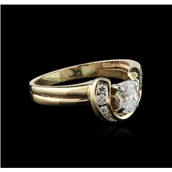 14KT Yellow Gold 0.50 ctw Diamond Ring