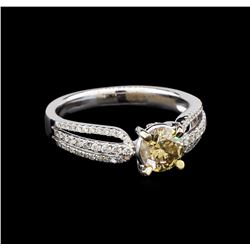 1.01 ctw Brown Diamond Ring - 18KT White Gold