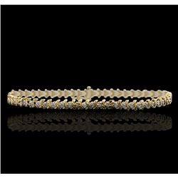 14KT Yellow Gold 1.10 ctw Diamond Bracelet