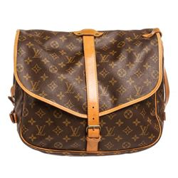 Louis Vuitton Monogram Canvas Leather Saumur 35 cm Messenger Bag