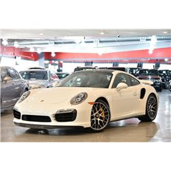 2014 White Porsche 911 Turbo S Coupe