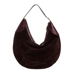 Gucci Brown Suede Leather Large Horsebit Glam Hobo Bag