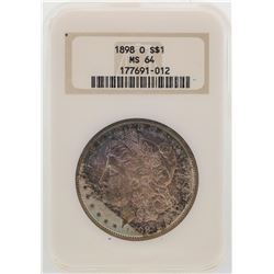 1898-O $1 Morgan Silver Dollar Coin NGC MS64