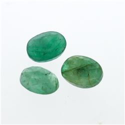 3.28 cts. Oval Cut Natural Emerald Parcel