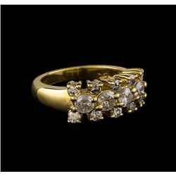 14KT Yellow Gold 0.97 ctw Diamond Ring