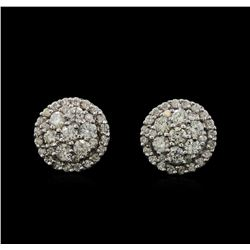 14KT White Gold 0.90 ctw Diamond Earrings