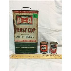 GR OF 3, B/A BOWTIE FROST COP GALLON, WYNNS FRICTION PROOF, FULL, SILOO GAS FULL
