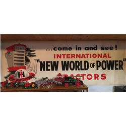 IH DEALERS BANNER, PAPER APPROX 3' X 10'
