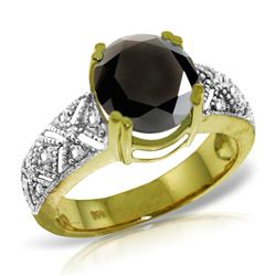 Genuine 3.7 ctw Black & White Diamond Ring Jewelry 14KT Yellow Gold - REF-219N2R