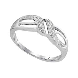 0.02 CTW Diamond Ring 10KT White Gold - REF-10W5K