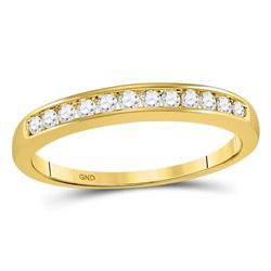 0.25 CTW Diamond Single Row Ring 14KT Yellow Gold - REF-30M2H