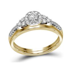 0.33 CTW Diamond Wedding Bridal Engagement Ring 10KT Yellow Gold - REF-33H8M