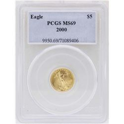 2000 $5 Gold American Eagle 1/10 oz. Gold Coin PCGS MS69
