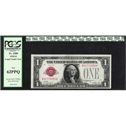 1928 $1 Legal Tender Note Fr.1500 PCGS New 62PPQ