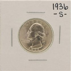 1936-S Washington Silver Quarter Coin