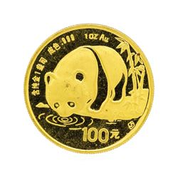 1987 China 100 Yuan Panda Gold Coin