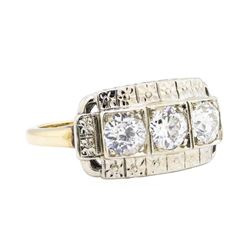 14KT White and Yellow Gold 1.16 ctw Diamond Ring