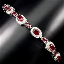 Genuine Oval 6x4mm Top Blood Red Ruby Bracelet