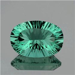 Natural Emerald Green Blue Fluorite 14.36 Ct Flawless