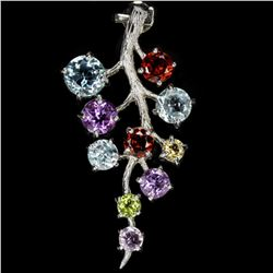 Natural Multi Gemstone Pendant