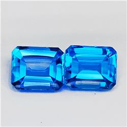 Natural AAA Swiss Blue Topaz Pair 12 x 10 MM - FL