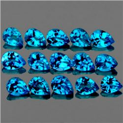 Natural Swiss Blue Topaz 5x4 mm - VVS