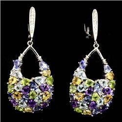 Amethyst Citrine Peridot Topaz Tanzanite Earrings