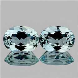 Natural AAA Light Sky Blue Aquamarine Pair - FL