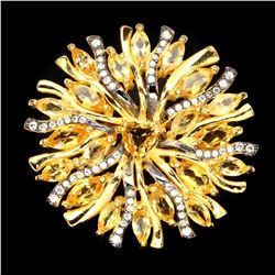 Exquisite Marquise 4x2mm Yellow Citrine Ring