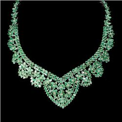 Natural Columbian Emerald 467 Ct Necklace