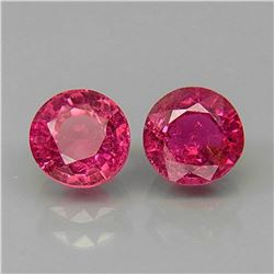 Natural Top Pink Tourmaline Pair 5.5 MM
