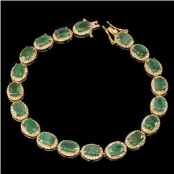 Natural Oval 7x5mm Top Rich Green Emerald Bracelet