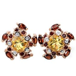 NATURAL MULTI COLOR CITRINE GARNET Earrings