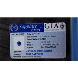 Genuine vivid Royal Blue Ceylon Sapphire, loose| GIA