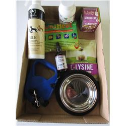 Flat of Pet Products / Shampoo / Cat Licks / Retractable Leash and more