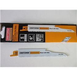 "New Craftsman Professional Recip/Sawzall Blades / 6"" for wood with nails"