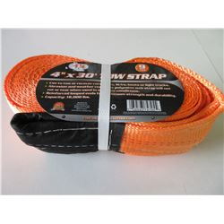 New 4 inch x 30 foot Tow Strap /  9 Ton 18,000lb / will not rot or tear