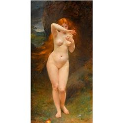 """Large Masterful Painting """"Red Head"""" by the r.bianco School of Masters"""