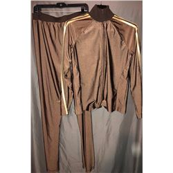 Glee (2009–2015) - Sue Sylvester  (Jane Lynch) Two Piece Brown Gold Custom Made Tracksuit