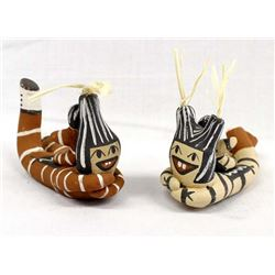 Native American Jemez Pottery Koshare Clowns