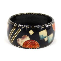 Beautiful Inlay Cloisonne' Bangle Bracelet